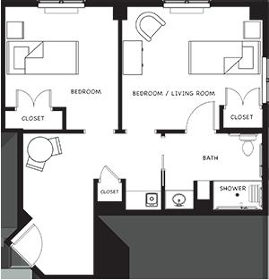 Memory Care Senior Suite Apartment