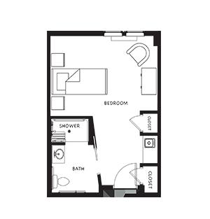 Memory Care Studio Apartment