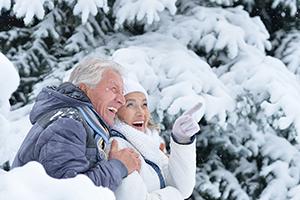 Seniors in winter